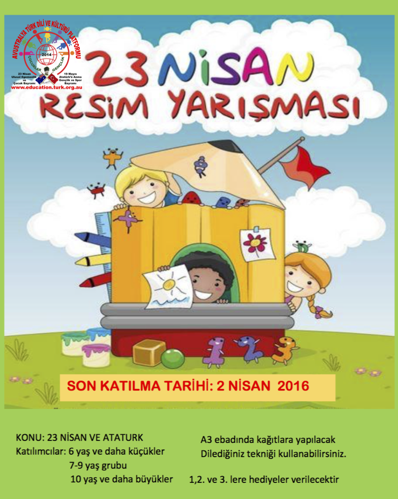 23 Nisan Resim Yarismasi Poster