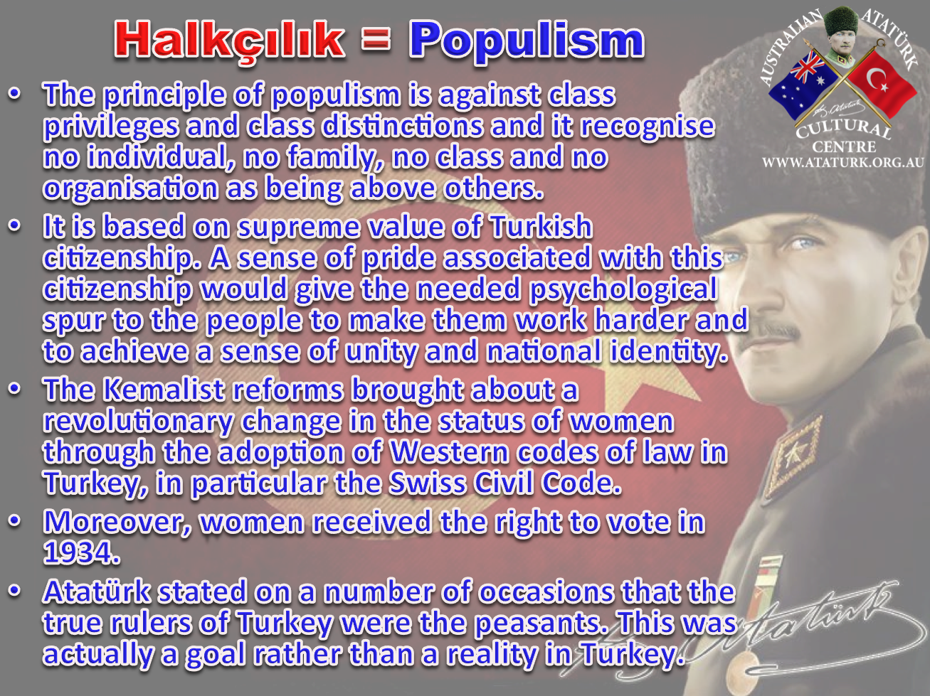 AAKM - Ataturk Principles and Reforms - 5 Populism